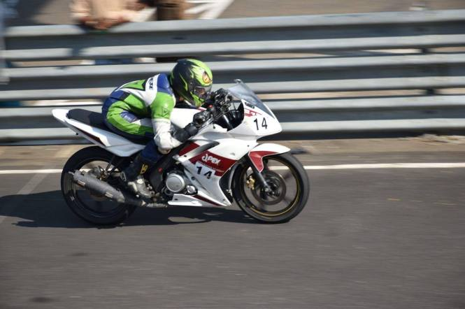 Aishwarya on the Track in her R15